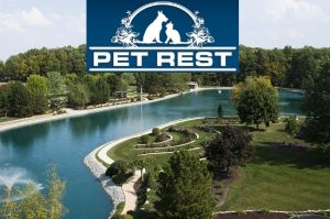 A view of the Pet Rest garden